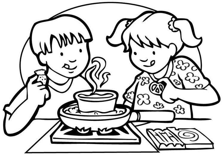 ausmalbilder kochen