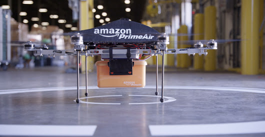 Watch the Amazon Prime Air drone make its first delivery in the US