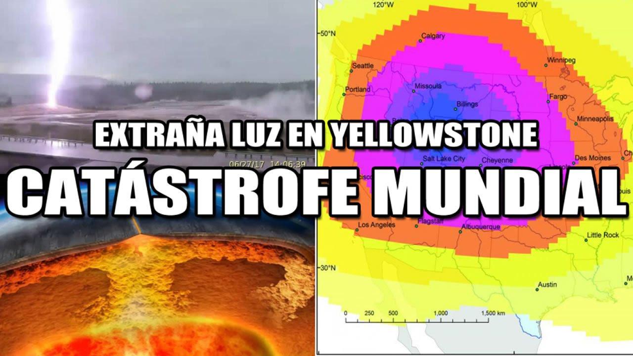 Resultado de imagen de Aparece una extraña luz en el supervolcán Yellowstone