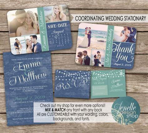 Beach Wedding Invitation Kit, Save The Date Postcard