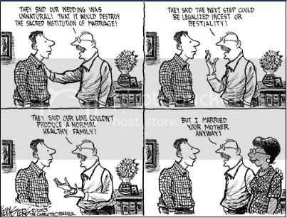 cartoon gay marriage interracial marriage Pictures, Images and Photos