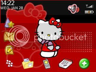 red hello kitty Theme đẹp dành cho BlackBerry 83xx và 87xx