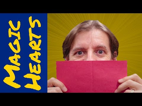 DIY Valentines card idea 2018 - Magic hearts