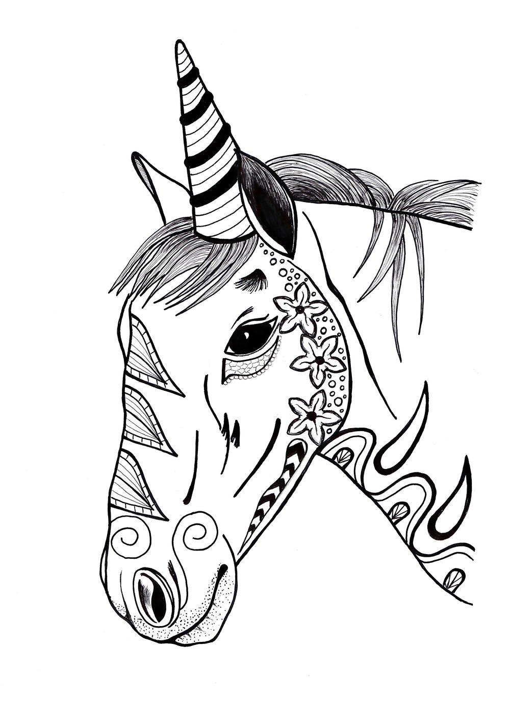 Unicorn Coloring Page (PDF Download) | FaveCrafts.com