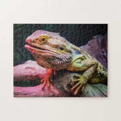 Lizard 01 Digital Art - Photo Puzzle
