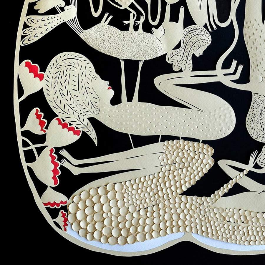New Cut Paper Sculptures and Illustrations by Elsa Mora sculpture paper illustration