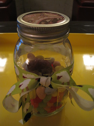 Jar of candy, in lieu of Easter basket
