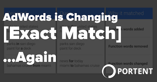 AdWords is Changing Exact Match ... Again