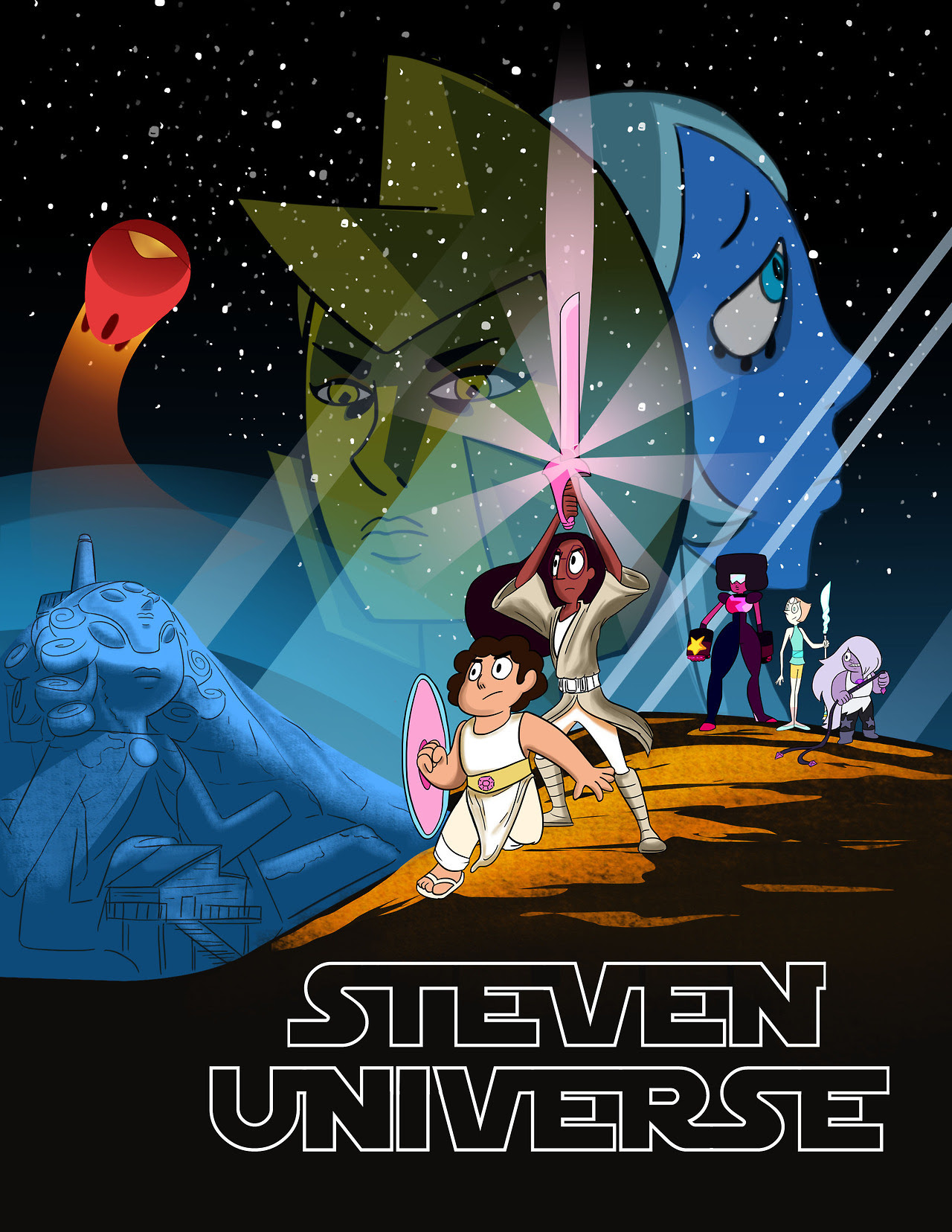 Finished my reimagined piece of Steven Universe. The hope for the galaxy has arrived !