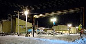 Barrow High School, Barrow Alaska (in the dark...