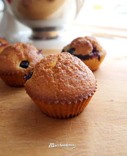 Blue huckleberry muffin, muffinki z borówkami, muffiny, babeczki, przepis, pieczenie