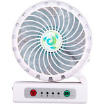 MYBAT White Portable USB Rechargeable Fan with Phone Charging Function