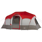 Wenzel Blue Ridge 7-Person Camping Tent, Red/Grey