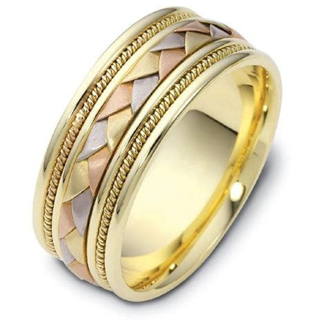 Men's Rope Two Tone Gold Band #302   Seattle Bellevue