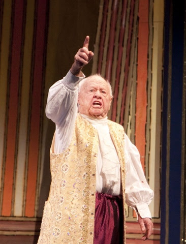 Mickey Rooney performs at the Milton Keynes Theatre in the 2009 pantomime Cinderella.