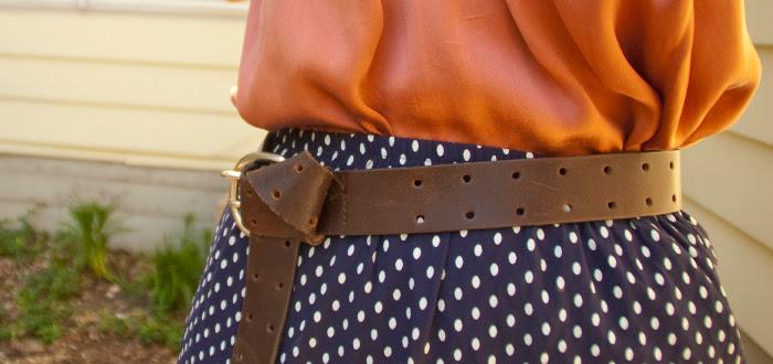 30for30 thirty dashdotdotty dash dot dotty style blog joie dress-as-top polka dot skirt wedges thrifty