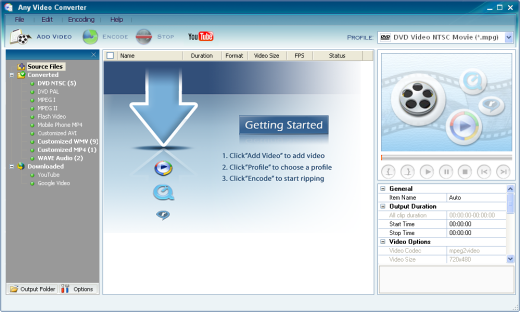 Screenshot of Any Video Converter Free