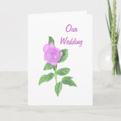 Lavender Rose, Our Wedding Invitations Cards card