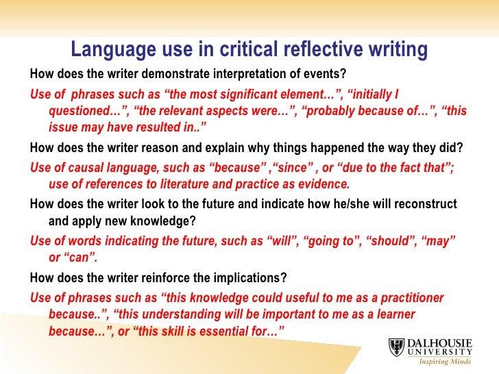 how to write a reflective essay nurse
