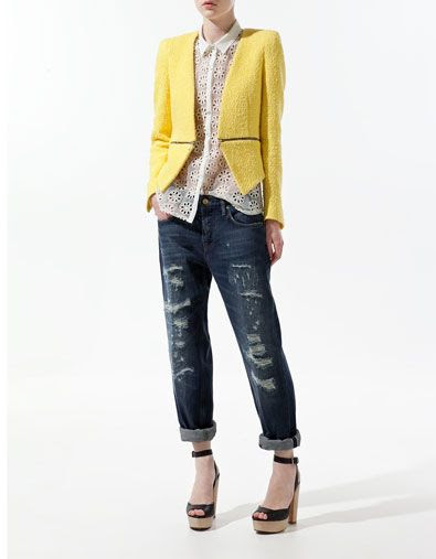 Zara Blazer With Zip Waist