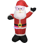 Santas Forest 90337 Inflatable Christmas Santa, 4 ft