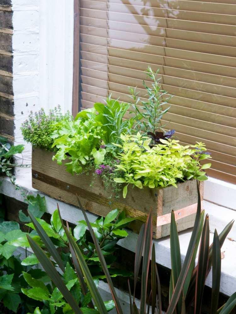 Blumen Arrangement im Blumenkasten - 50 inspirierende Ideen