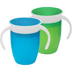 Munchkin Miracle 360 Trainer Cup, 7 Ounce, 2 Count - Green-Blue
