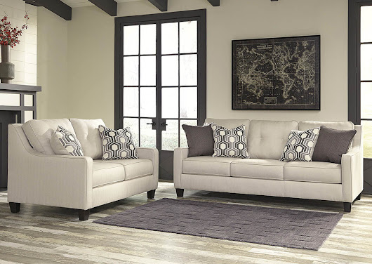 Guillerno Alabaster Sofa and Loveseat