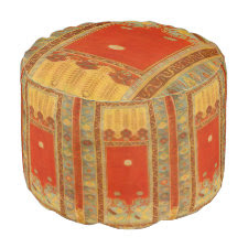 Oriental rug design -Ladik style Round Pouf
