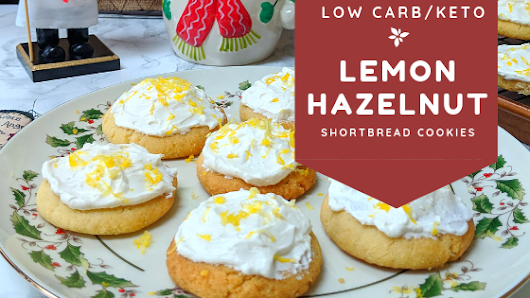 Lemon Hazelnut Shortbread Cookies | Keto Recipes and videos at Culinary Lion