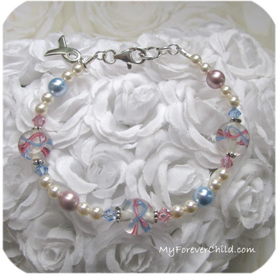 Pregnancy & Infant Loss Awareness Pearl Bracelet