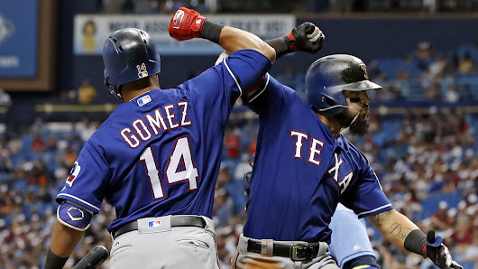 Back-to-back home runs lead Rangers to victory