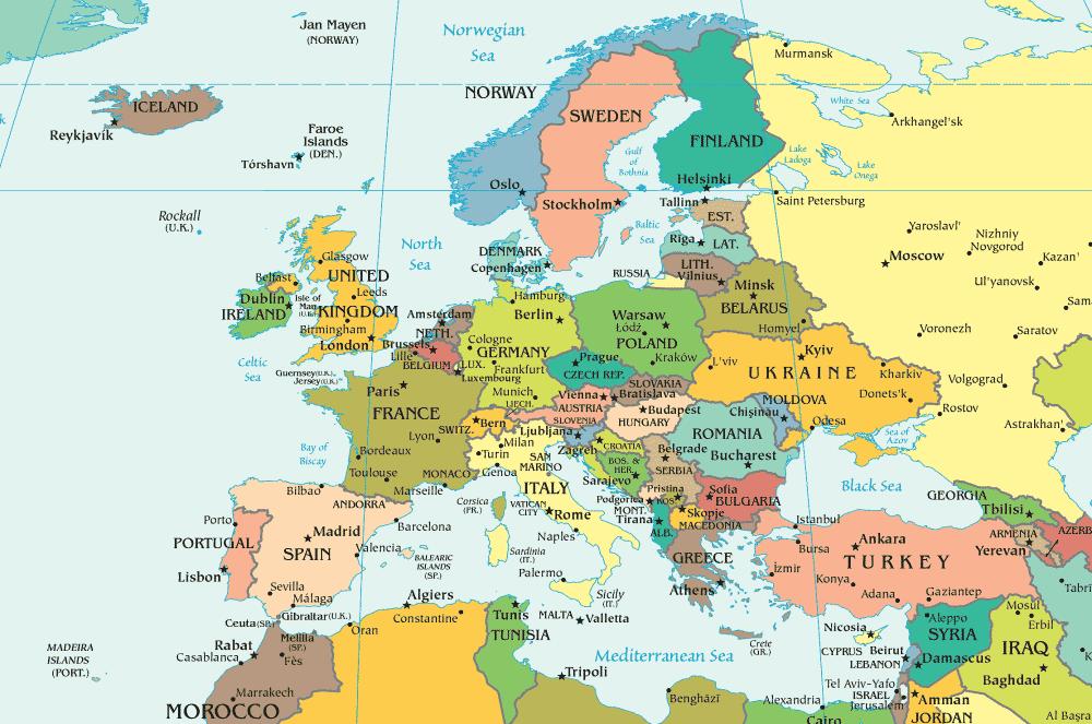 Carte D Europe Images Et Photos Vacances Arts Guides Voyages