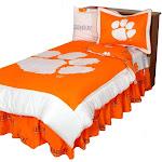 Clemson University Tigers Comforter Set Revesible Comforter Sham Set