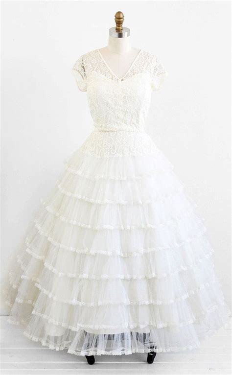vintage 1950s wedding dress / plus size wedding dress
