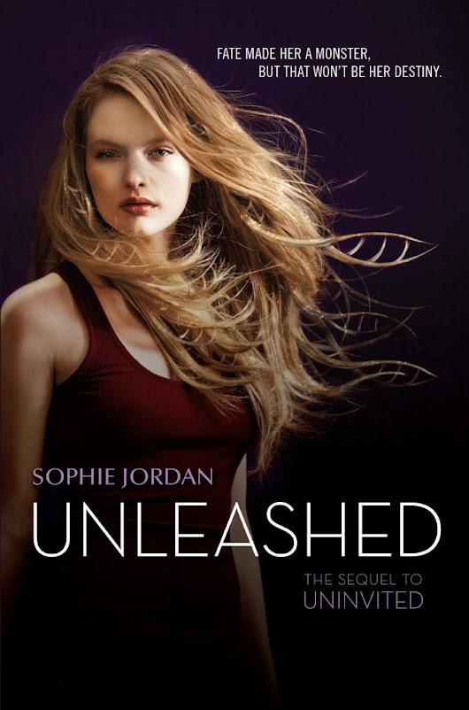 Cover reveal: Unleashed (Uninvited #2) - Sophie Jordan