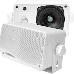 "3.5"" Box Speakers - White Pyle PLMR24"