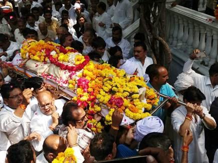 विधायक महेंद्र सिंह कालूखेड़ा को दी गई अंतिम विदाई