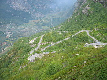 Mountain road to Lysebotn