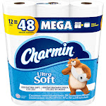 Charmin Ultra Soft 2-Ply Bathroom Tissue, Unscented - 12 rolls