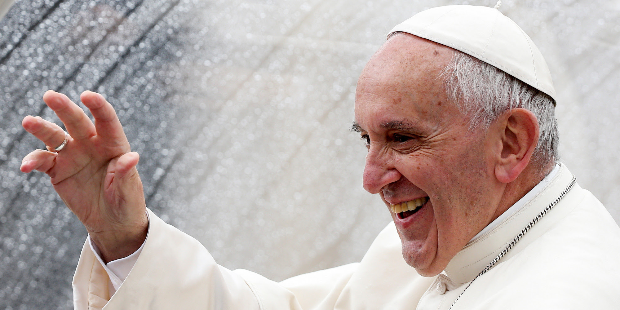 Image result for pope francis hand gestures