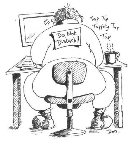 Michael Blog: Cartoon Person On Computer