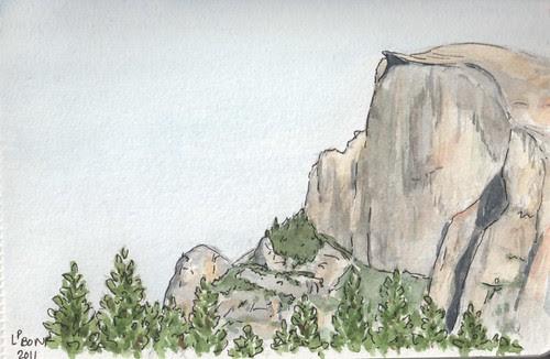 Half Dome sketch