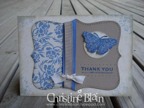 Bella Bleu, Vanilla Top Note card