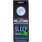 Onnit Melatonin Instant Spray 3 mg Fresh Mint (1 Fluid Ounce)