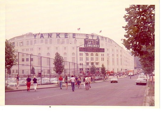 A Collage of old Yankee Stadium: Former Home of the New York Yankees