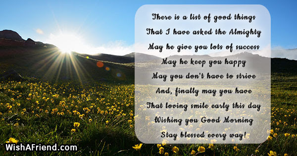 Christian Good Morning Messages