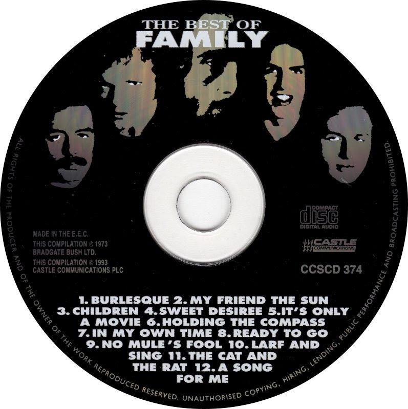 Cd Album Family The Best Of Family Castle Communications Uk
