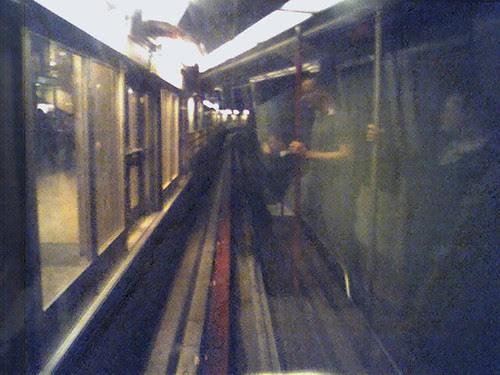 Airport train tunnel