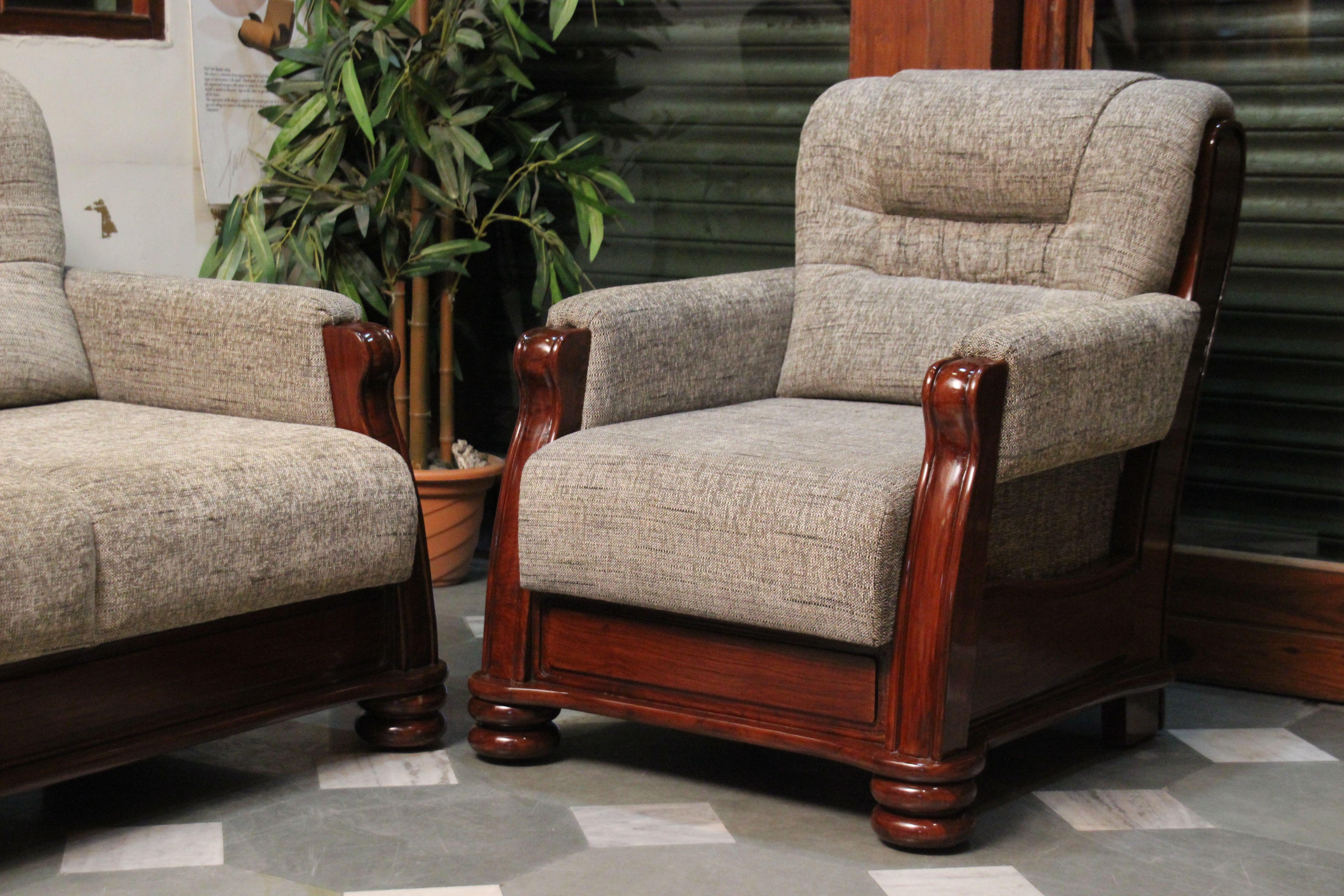 Teak Wood Sofa with Jute tapestry | Furniture Designs ...
